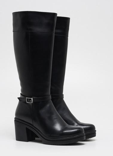 F By Fabrika Kadın Siyah Çizme SAVA Siyah